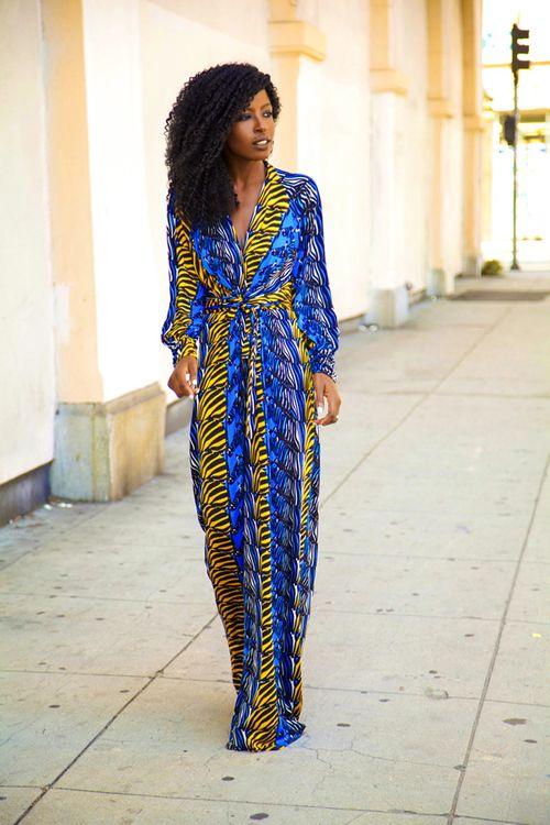 Printed maxi dress styling