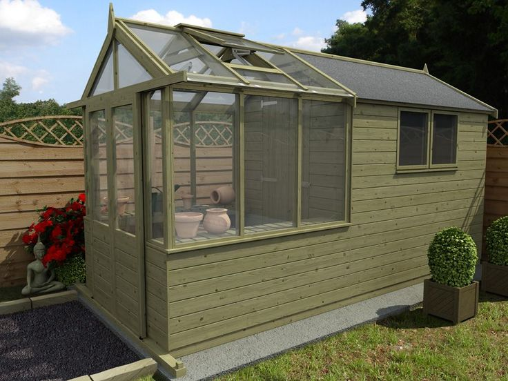 Best 25 greenhouse shed ideas on pinterest plant shed for Tiny house with greenhouse