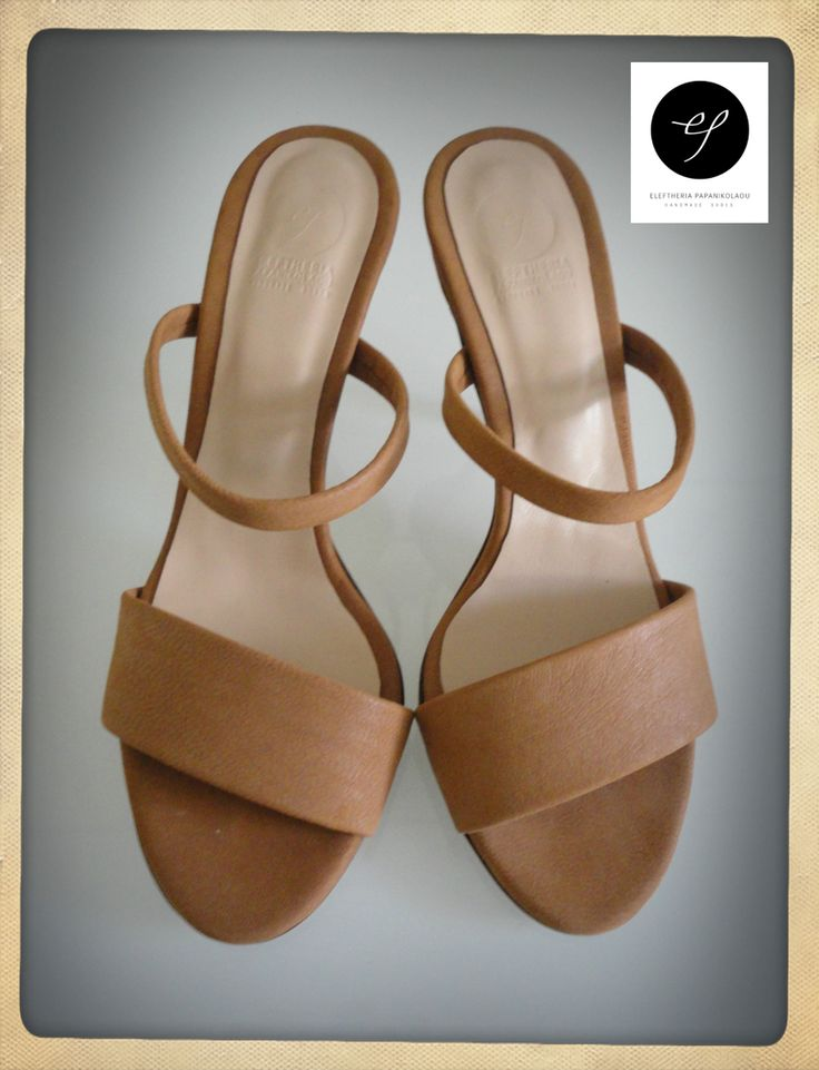 "Collection ""Riviera"" - Monaco S/S 2015 Leather Sandals in brown ""fresco""color, height 8,5cm."