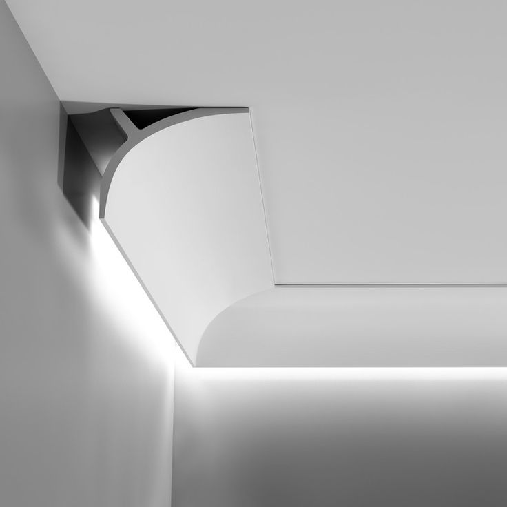 Medium sized, plain, downlighting coving / cornice.  Supplied in 2 metre lengths.  11cm High x 14cm Projection.  Lightweight Purotouch.