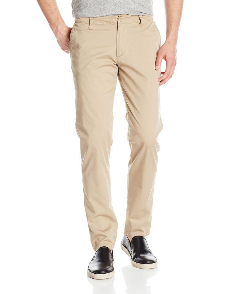 A|X Armani Exchange Men's Core Stretch Twill Chino Pant Slim Fit, Khaki, 34