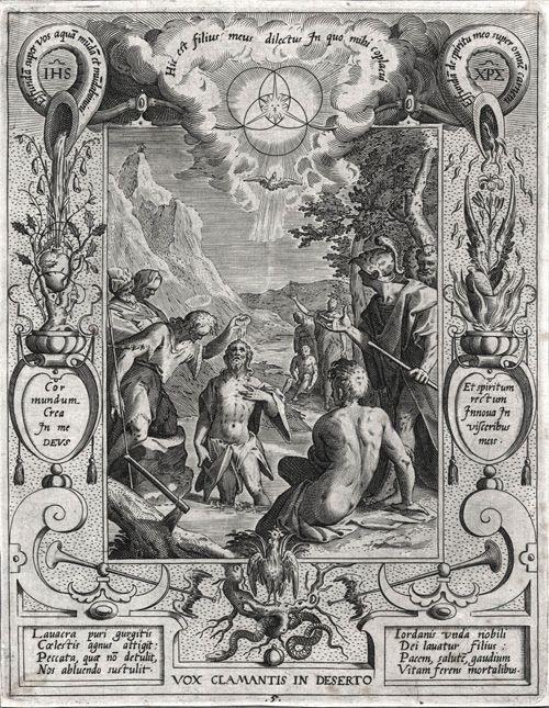 Aegidius Sadeler (1568-1629) Bautismo de Cristo, c. 1600