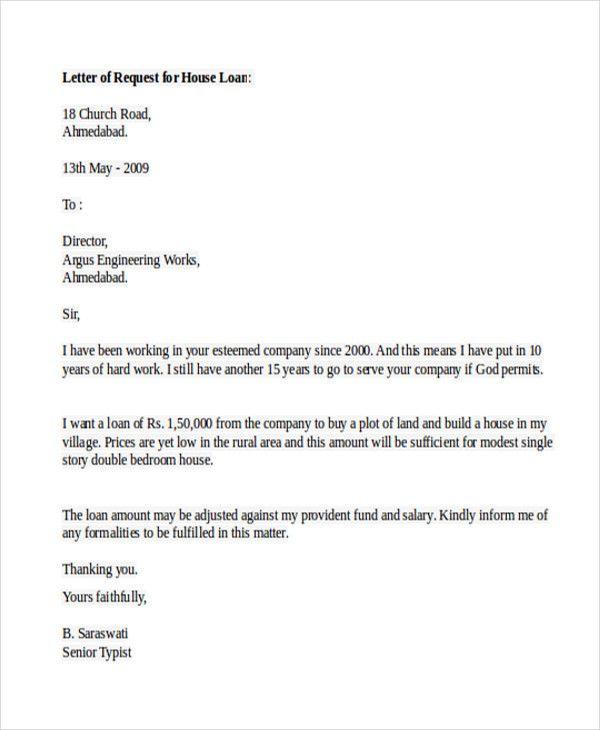 Lending Money Letter Sample Business