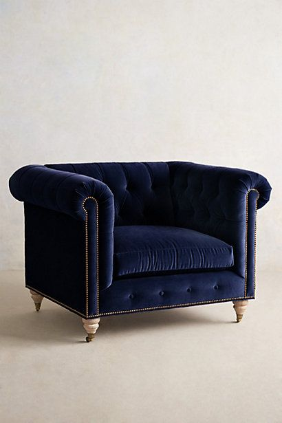 Lyre Chesterfield Armchair - SWOON #anthrofave