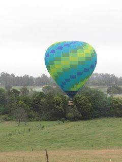 Floating on Cloud 9, Hawkesbury, NSW. Wedding Anniversary gift from my mother. ❤️