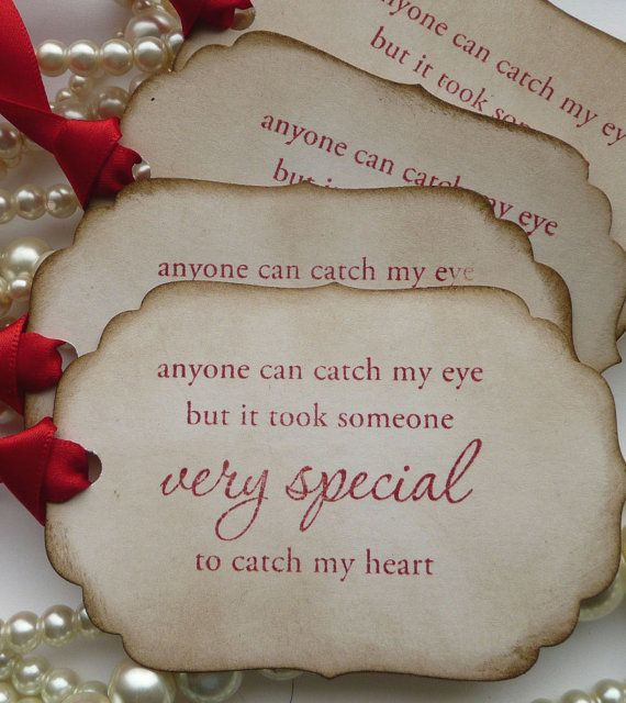 Valentine Quote Tags  Red Romantic  Vintage  Style by amaretto, $4.00