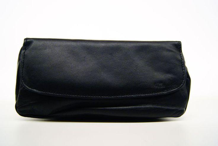 Pellami : Borsello nero portapipe in pelle made by brebbia modello 2 - Tabaccheria Sansone - Pipe Tabacco Sigari - Accessori per fumatori