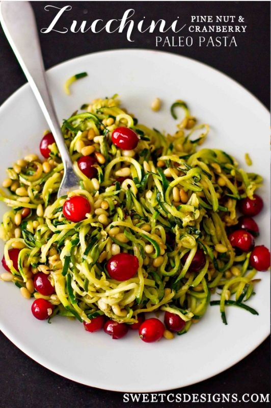 Zucchini Pine Nut and Paleo Pasta is a delicious, rich and easy to make vegan…