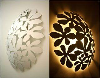 decoratieve wandverlichting met fruitschaal van Ikea