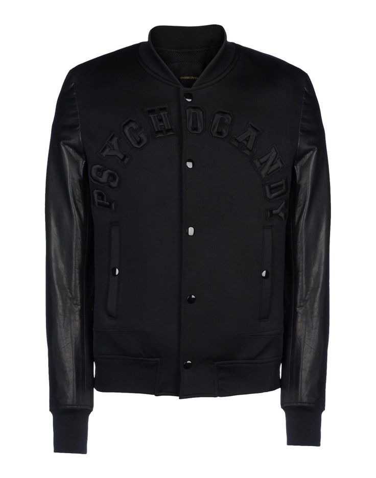 Black baseball jacket by UNDERCOVER #japanese #designer #label #leather #menswear #urban #street #style #trend