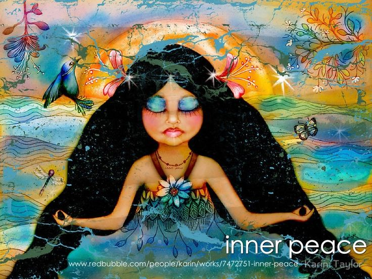 Inner Peace painting by Karin Taylor Prints and cards http://www.redbubble.com/people/karin/works/7472751-inner-peace Facebook https://www.facebook.com/karintaylor.online