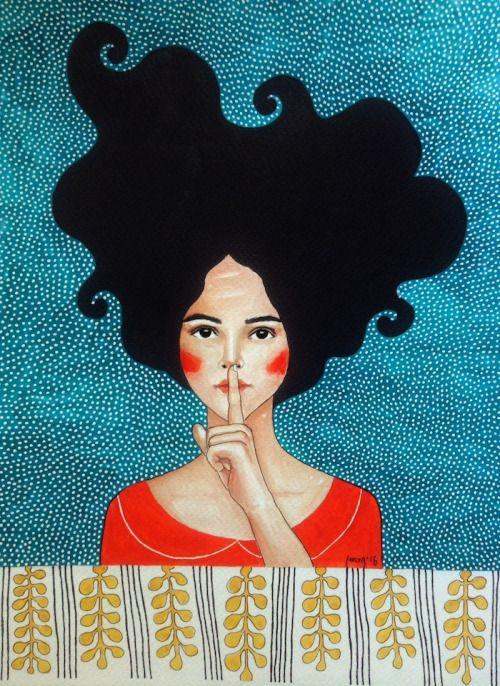 'There's a silent world' , made by: Hülya Özdemir