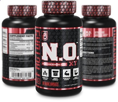 N.O. XT Nitric Oxide Supplement - Extra Strength NO Booster and Muscle Builder With Nitrosigine Arginine and L Citrulline for Muscle Growth, Pumps, Vascularity,  Energy - 90 Veggie Pills
