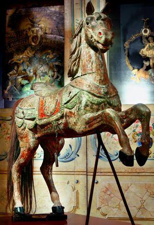 Antique French carousel horse - Musée des Arts Forains, Paris (France)