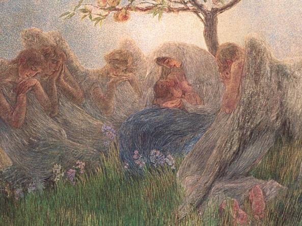 La Maternità - Gaetano Previati (Italian, 1852-1920)