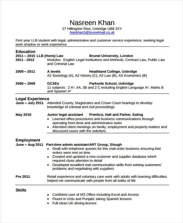 Law Cv Template Majormagdalene Project Student Resume Job Resume Examples Job Resume Template