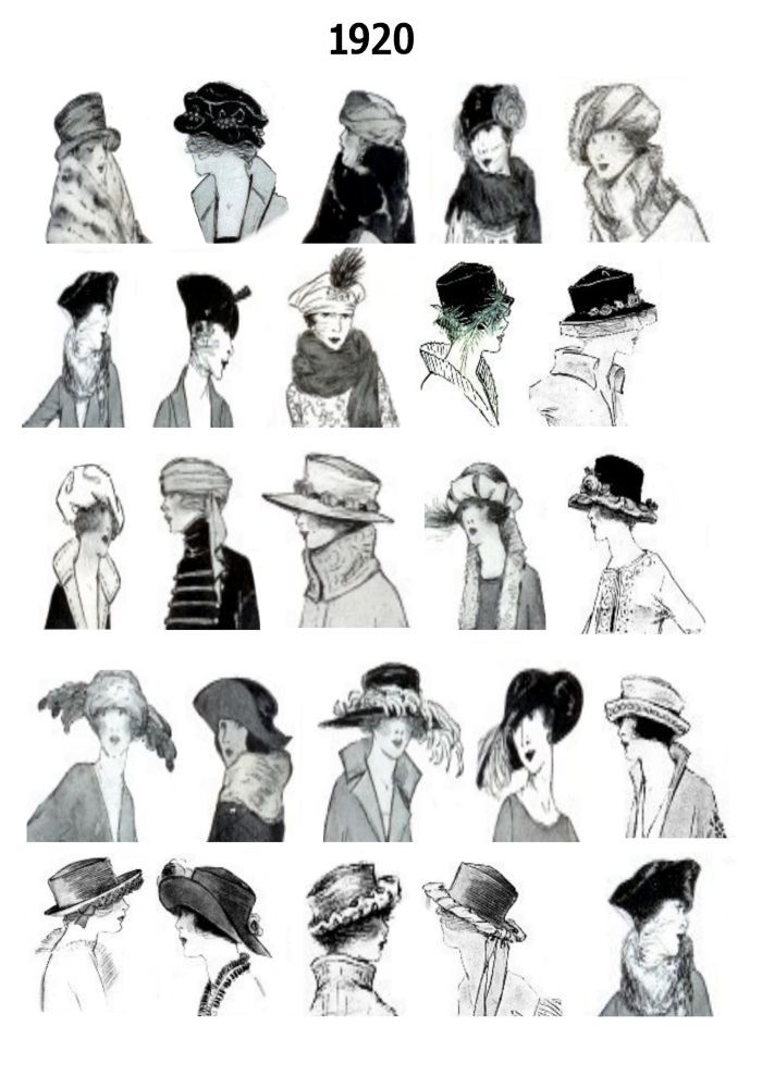 During the 1920s the cloche was the most popular hat style in a time when women seldom left home without wearing a hat for day or a hair decoration for evening. Description from shefalibuzz.blogspot.com. I searched for this on bing.com/images