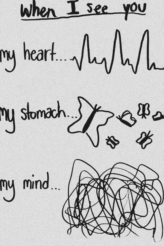 Quand je pense a toi quand je te voie et quand je suis dans tes bras