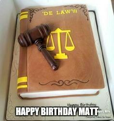 Lawyer cake (Matt)