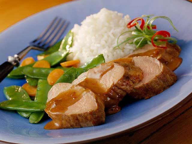 Recipe: Pork Tenderloin with Hoisin-Raisin Sauce