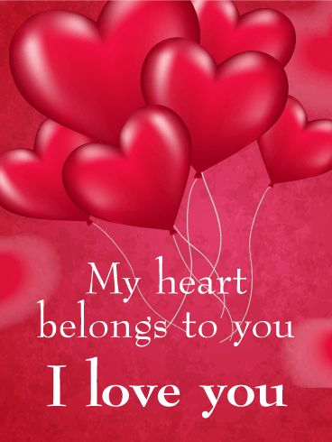 43 best love cards images on pinterest anniversary greetings send free my heart belongs to you love card to loved ones on birthday greeting cards by davia m4hsunfo