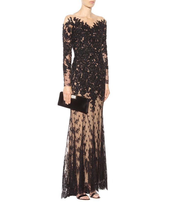 mytheresa.com - Bestickte Spitzenrobe ☆ Zuhair Murad | mytheresa - Luxury Fashion for Women / Designer clothing, shoes, bags
