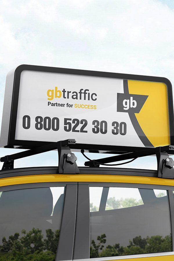 Car Roof Advertising Display Board Mockup 1007027 Branding Design Bundles In 2021 Display Board Taxi Advertising Branding Design