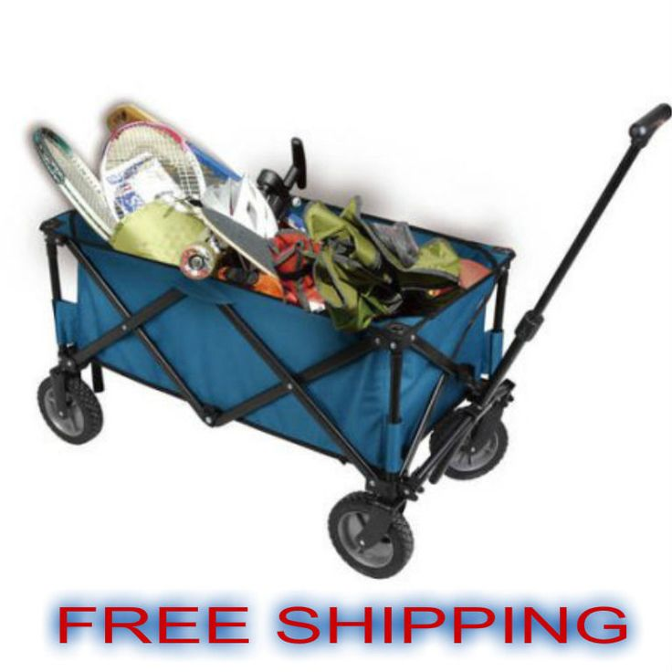 Yard Wagon Folding Beach Carrier Outdoor Garden Rolling Wheels 250 Lbs Capacity #OzarkTrail