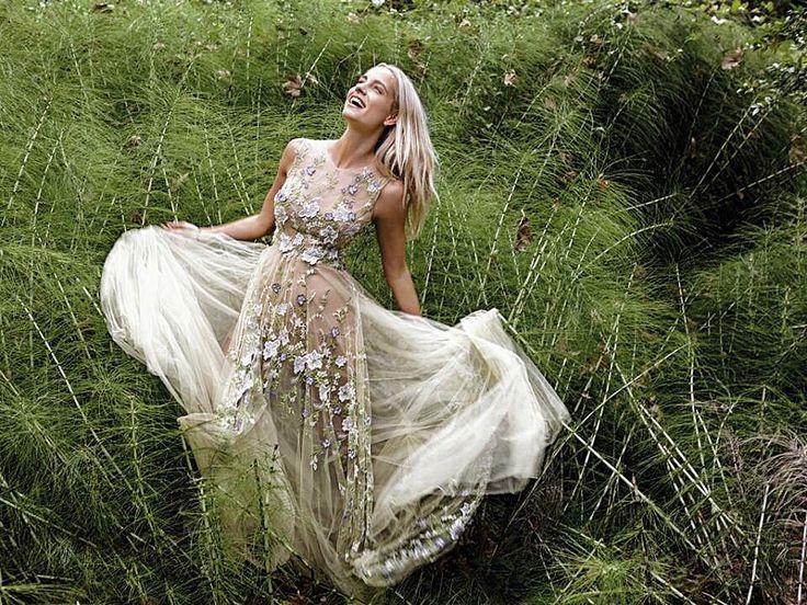 InStyle November 2015 Doukissa Nomikou in Konstantinos Melis by Laskos haute couture dress