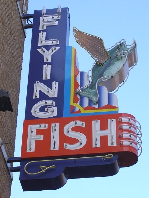 1000 ideas about vintage neon signs on pinterest old for Flying fish seattle