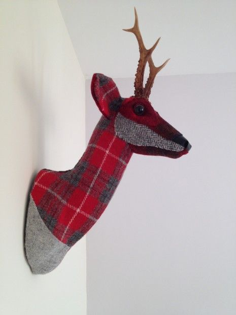 April Barrie Stag Head, Harris_Textile Taxidermy l Scottish Contemporary Art