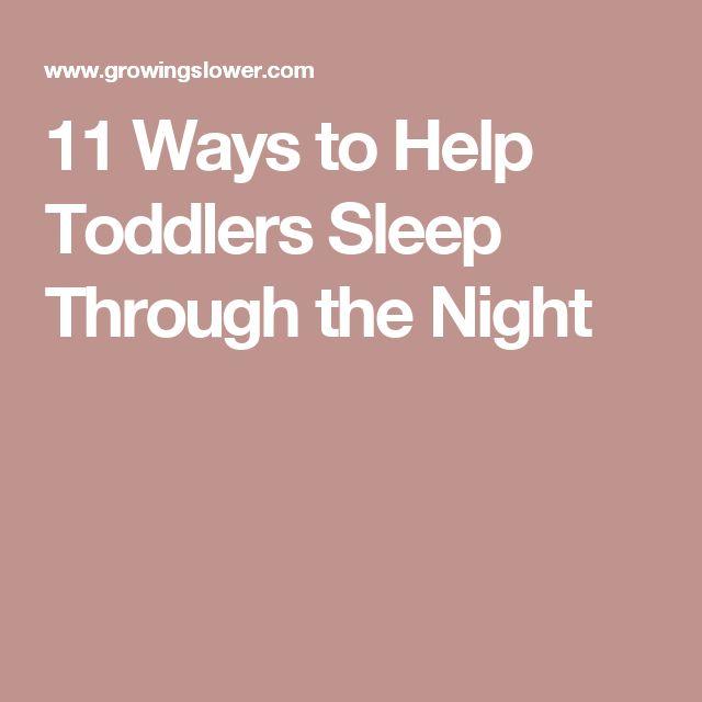 11 Ways to Help Toddlers Sleep Through the Night