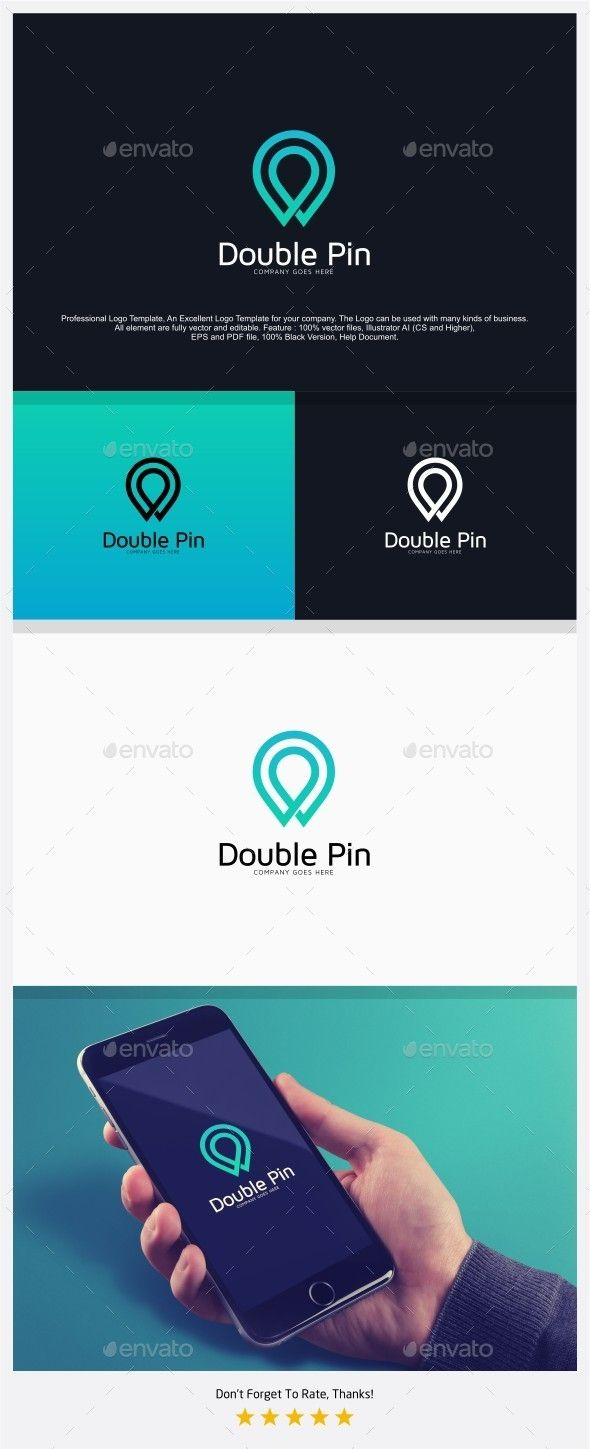Double Pin - Find Place Logo Template Vector EPS, AI. Download here: http://graphicriver.net/item/double-pin-find-place-logo/12943987?ref=ksioks