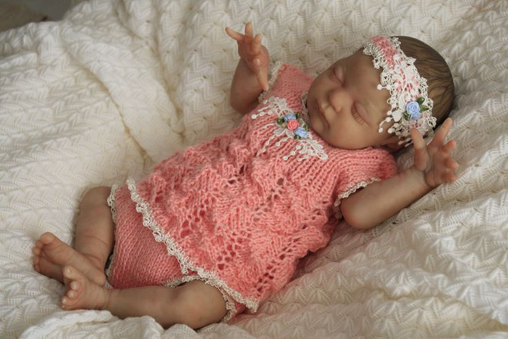 [SOLD]- Preemie size Reborn with custom made clothing