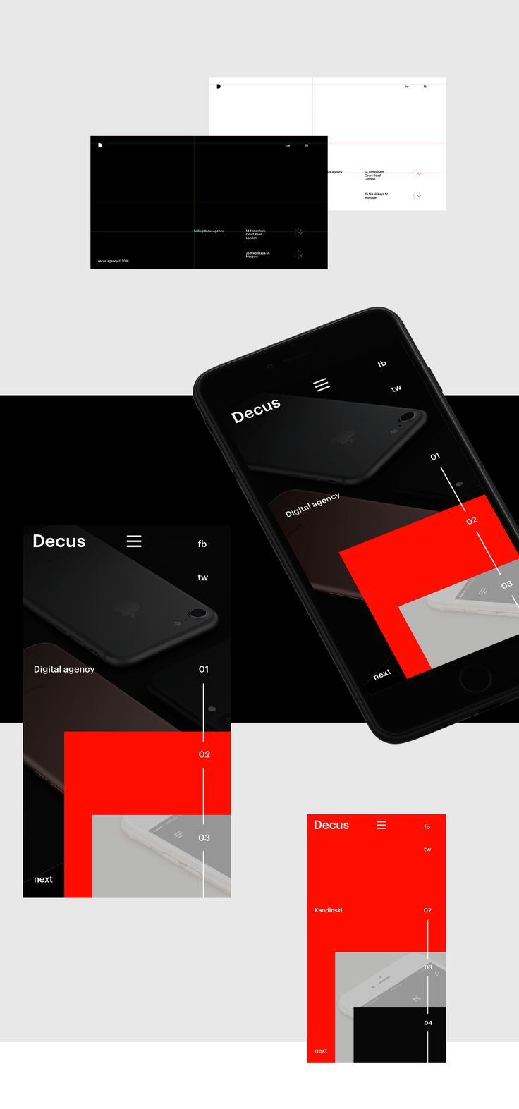 Decus. Digital agency web page concept