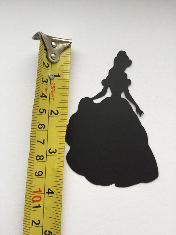 12 x Die Cut Disney Princess Belle Beauty And The Beast Black
