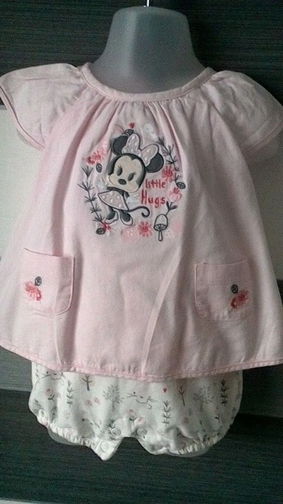 b70ad78fe Baby Girls Romper Dress All In One 3-6 Months Disney Store 3-6 ...