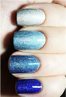 Ombre Wedding Styling - blue ombre nails