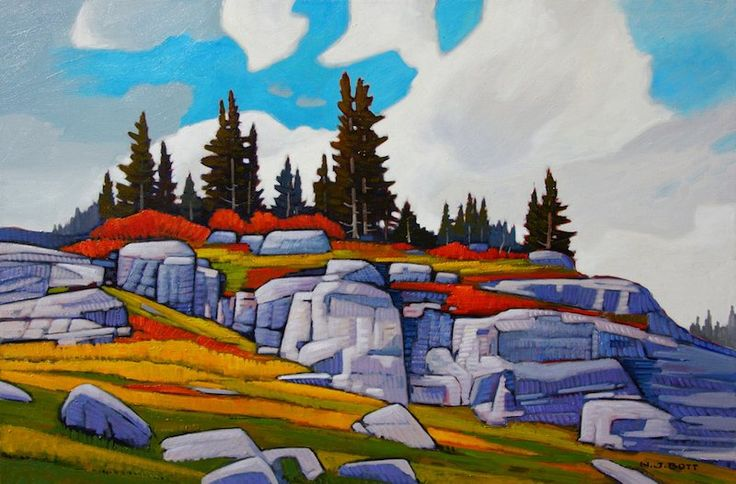"'Buena Vista Summit Purcell Area' 24"" x 36"" Oil on Canvas by Nicholas Bott"
