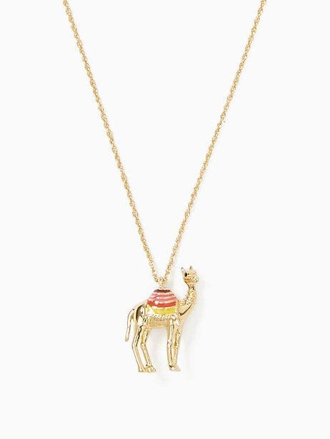spice things up camel mini pendant | Kate Spade New York