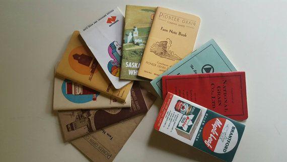 Una rara y excepcional colección de cuaderno de notas y registros de transporte de una variedad de trigo canadiense  diferente 10 diez agricultores.