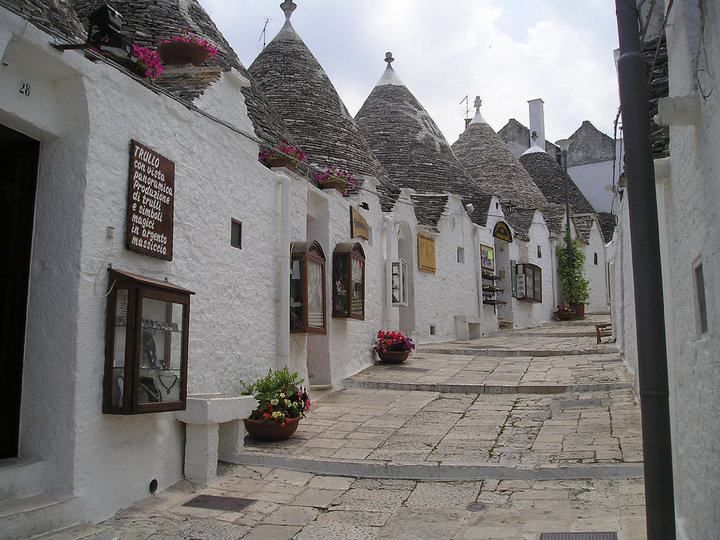 Trulli houses in Puglia Italy. For more awesome photos of Italian landscapes and villages visit the website.