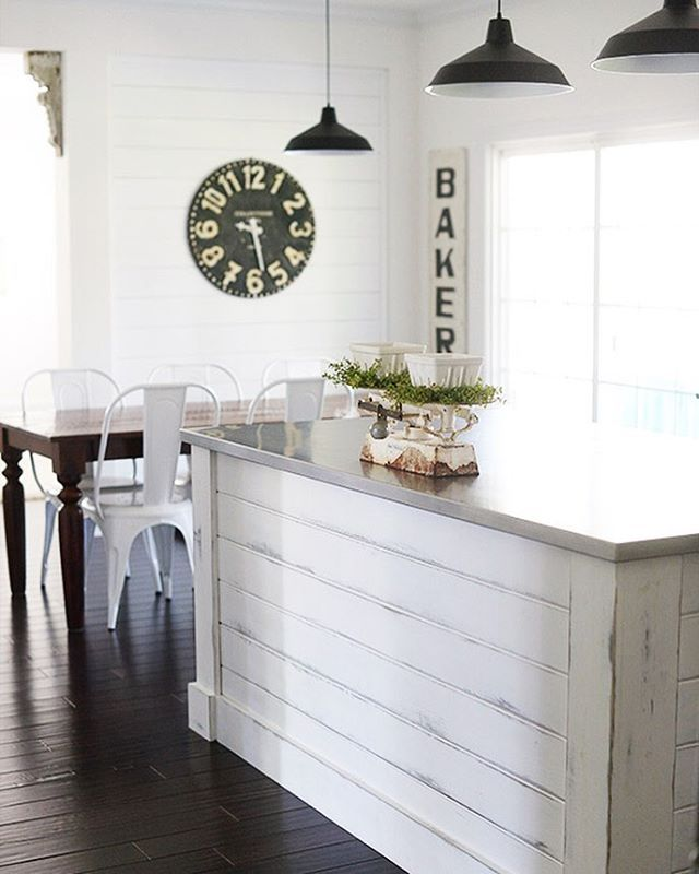 "Today on the blog, I share my ""clean"" Summer kitchen. Trust me when I say it…"