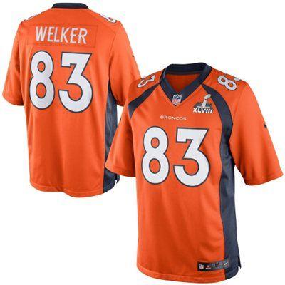 Nike Wes Welker Denver Broncos Super Bowl XLVIII Limited Jersey - Orange
