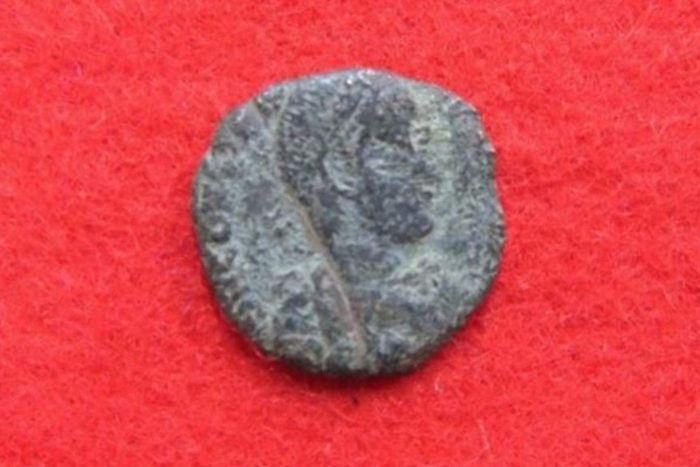 Zece monede romane din secolul al IV-lea d.Hr. au fost descoperite între ruinele medievale ale unui castel japonez.