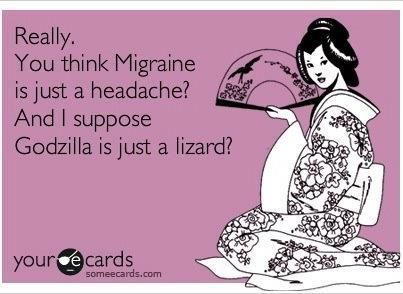 98ea359720b9 Te words migraine   headache cannot be interchanged! Two totally different  things!