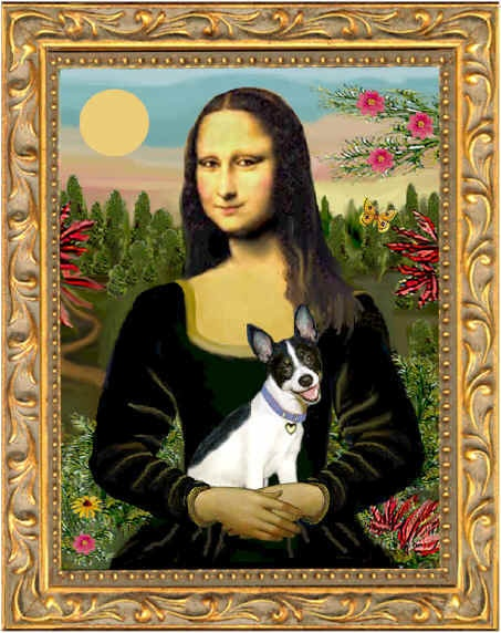 Rat Terrier and Mona Lisa In Remembrance of Maisie <3