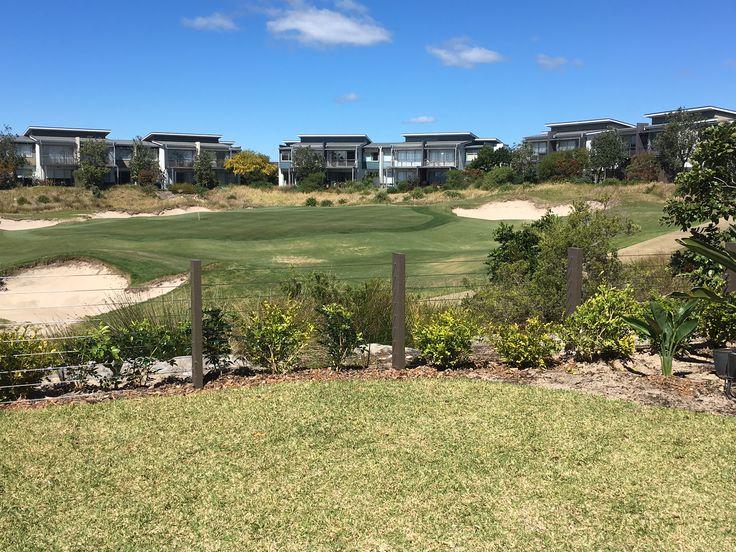 Customer DIY wire fencing job at Magenta Shores Golf Course