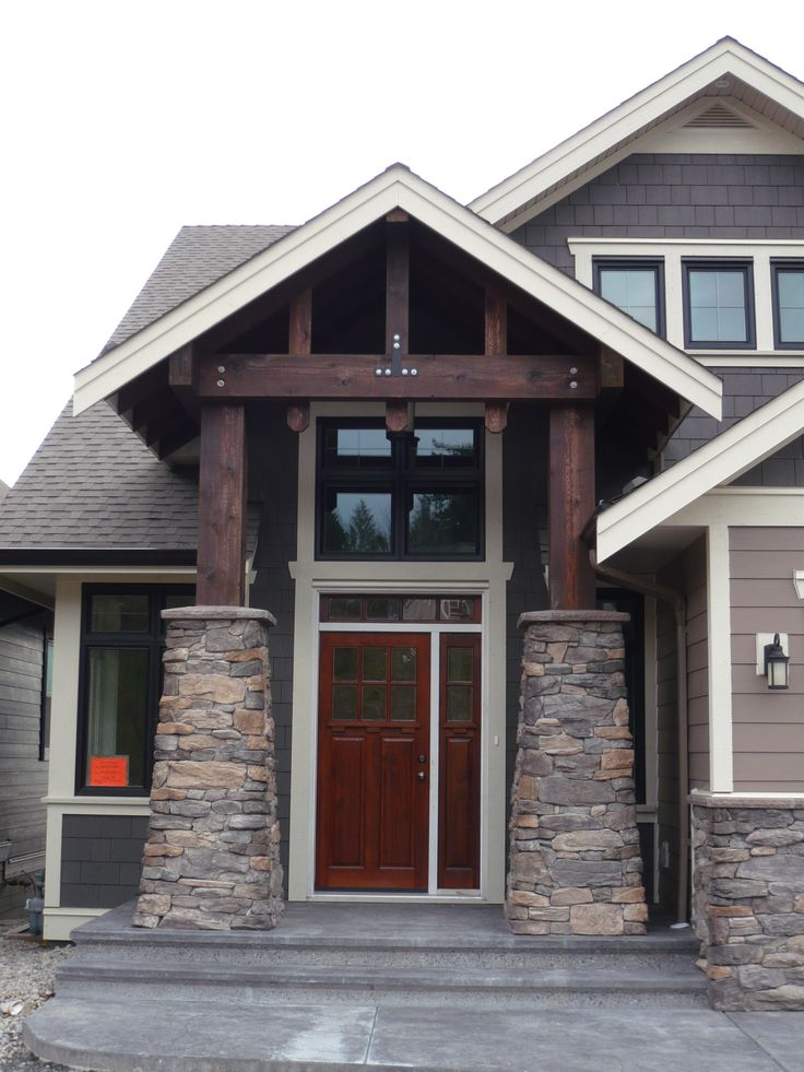 Stained House Siding : Best overhang roof entry images on pinterest