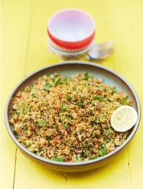 Kerryann's Turkish-style couscous #The perfect side for grilled fish or chicken - skipped the spicy and used ground corriandor, delish!
